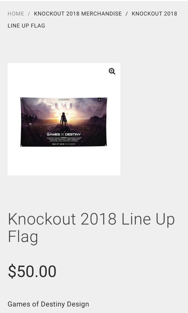 knockout circuz 2018 games of destiny flag