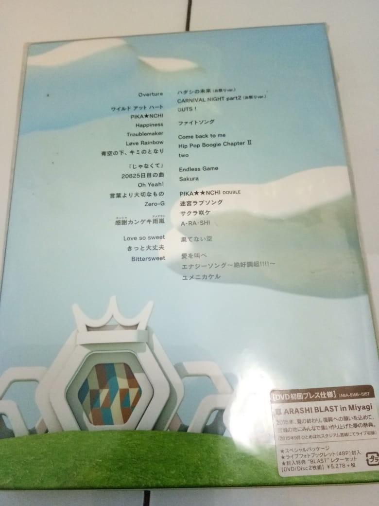 [Limited Edition] ARASHI BLAST in Miyagi Concert 2015 DVD.. Isi 2disc+booklet+envelope letter..