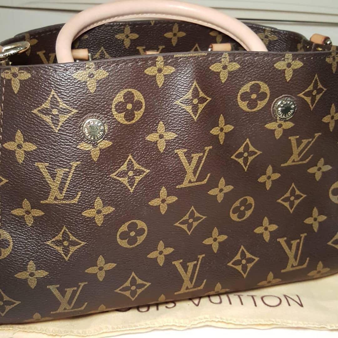 Louis Vuitton montaigne MM, mirror kulit asli ada noseri Like New✨