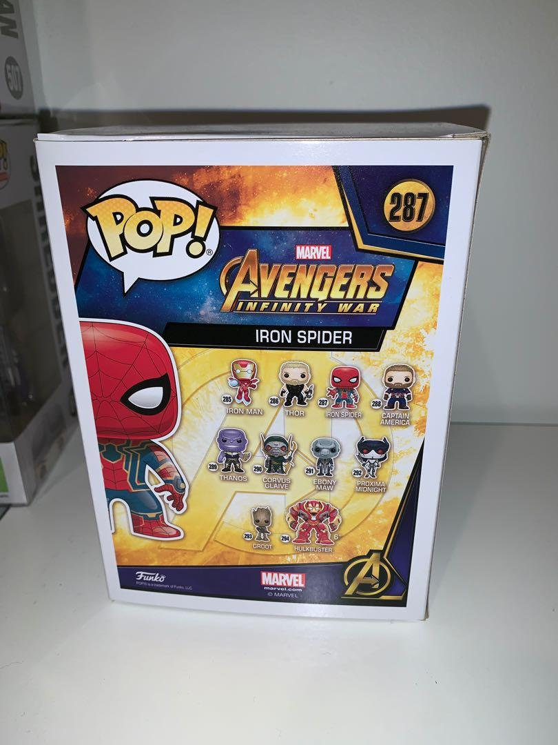 Marvel Avengers Infinity War Chrome Spider-man Funko Pop Vinyl Figure