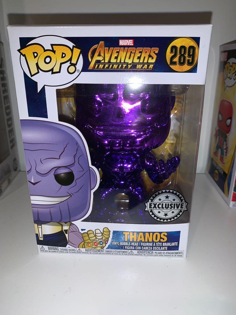 Marvel Avengers Infinity War Thanos Purple Chrome Funko Pop Vinyl Figure