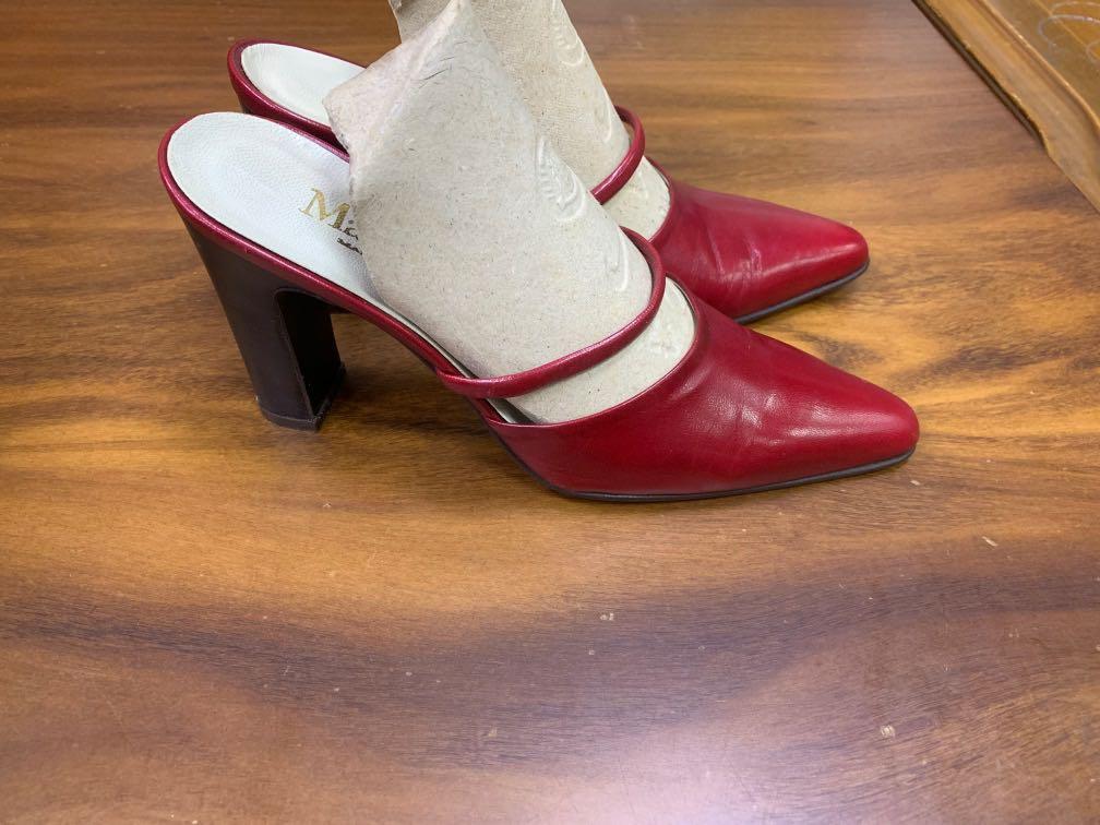 Max Mara 紅色 高跟鞋 義大利製 38