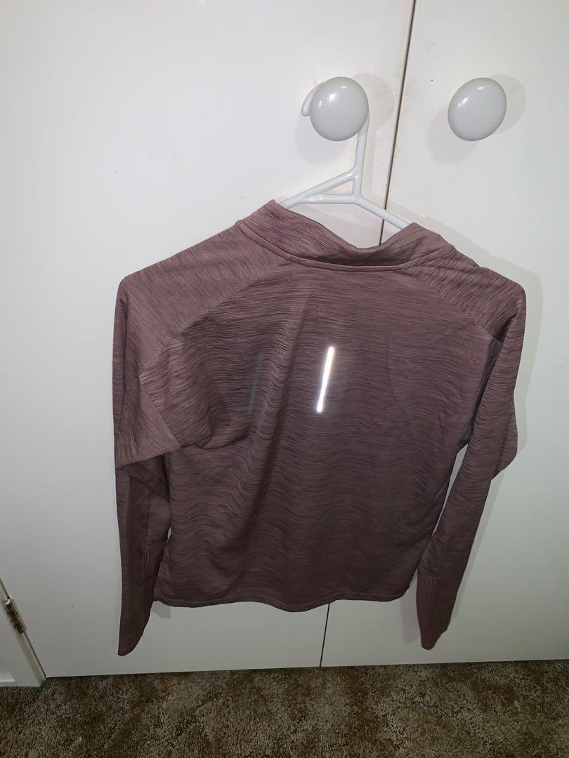NIKE RUNNING Dri-fit mauve purple training long sleeve shirt size XS