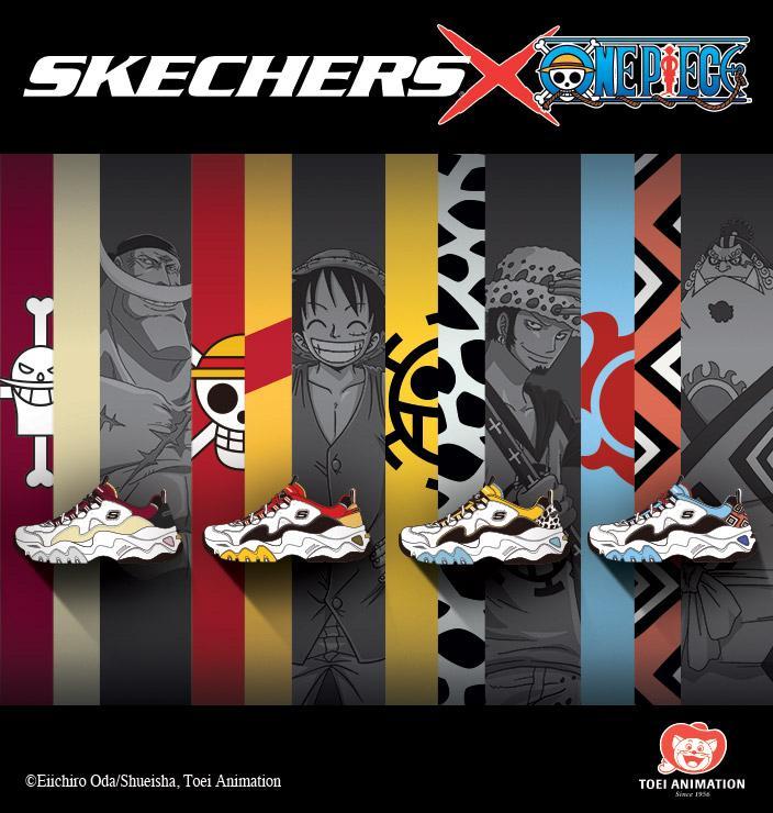 ONE PIECE X SKECHERS D'LITES, Men's