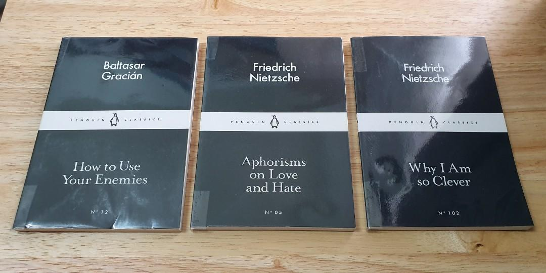 Penguin Little Black Classics Set of 3 - How to Use Your Enemies, Aphorisms of Love and Hate, Why Am I So Clever