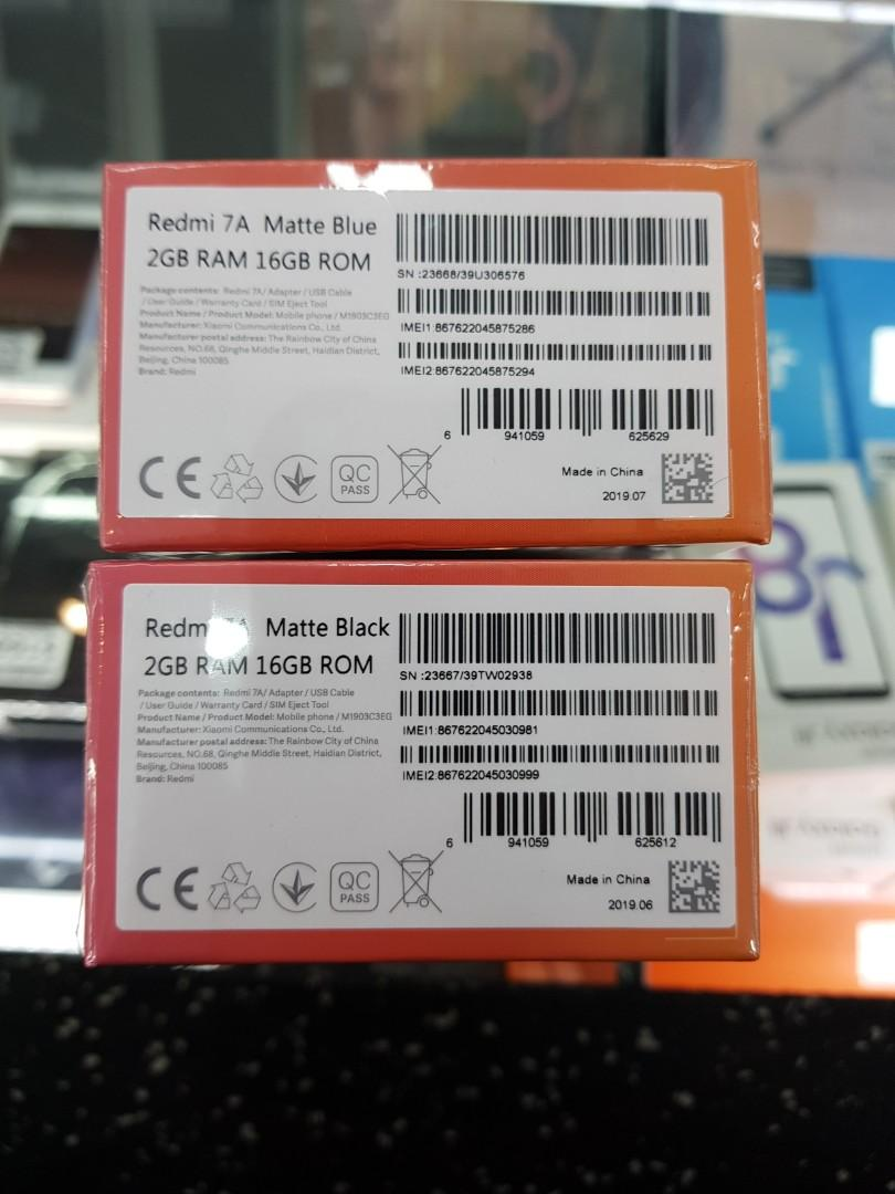 Redmi 7A brand new set