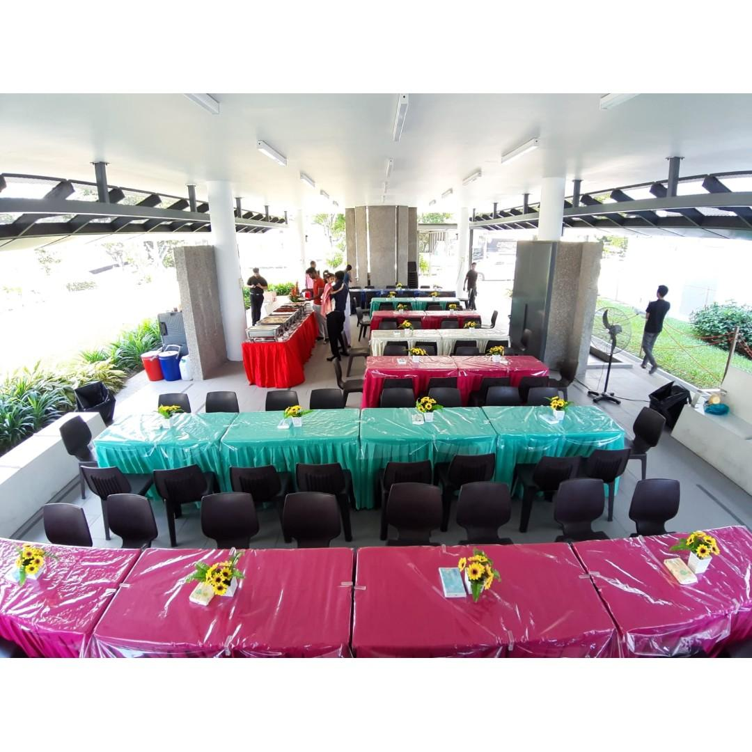 [Rent] Tables and Chairs Rent Rental Cheap Deliver Setup Event Function Wedding Birthday Party Flee Market Roadshow Kenduri Buffet BBQ Barbecue Barbeque Rental Open House Celebration 28