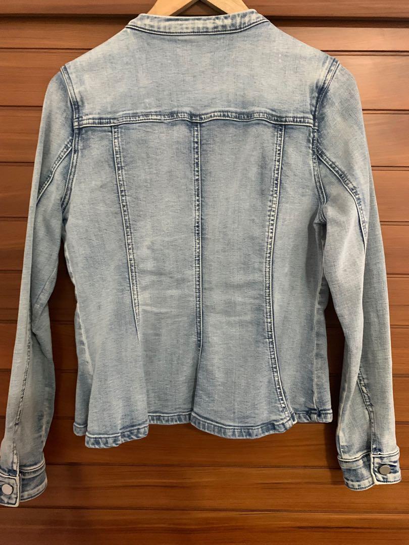 Seed Heritage Denim peplum jacket Size 12 pre-loved