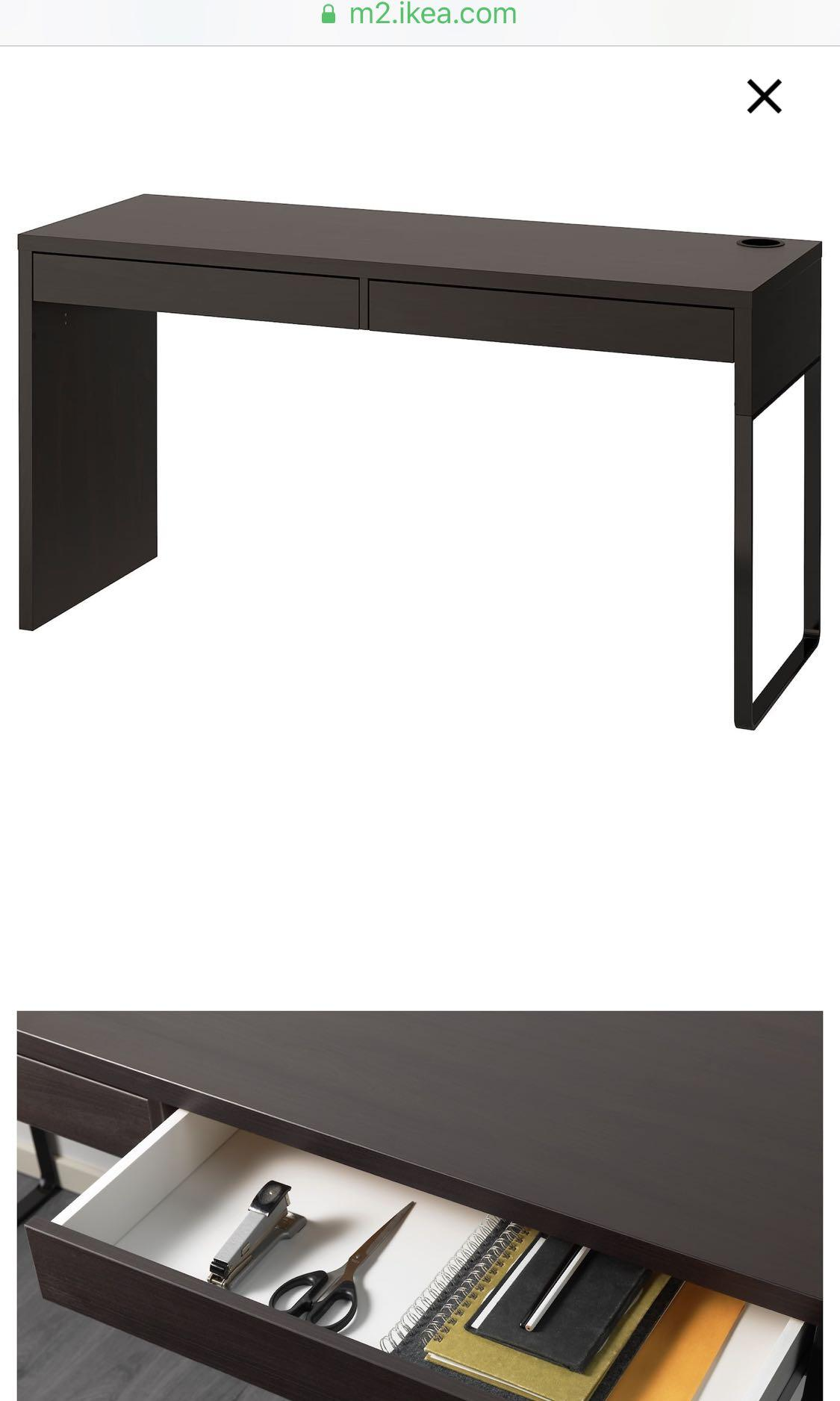Selling like new ikea desk! WITH custom glass piece on top to avoid mess. Custom made.