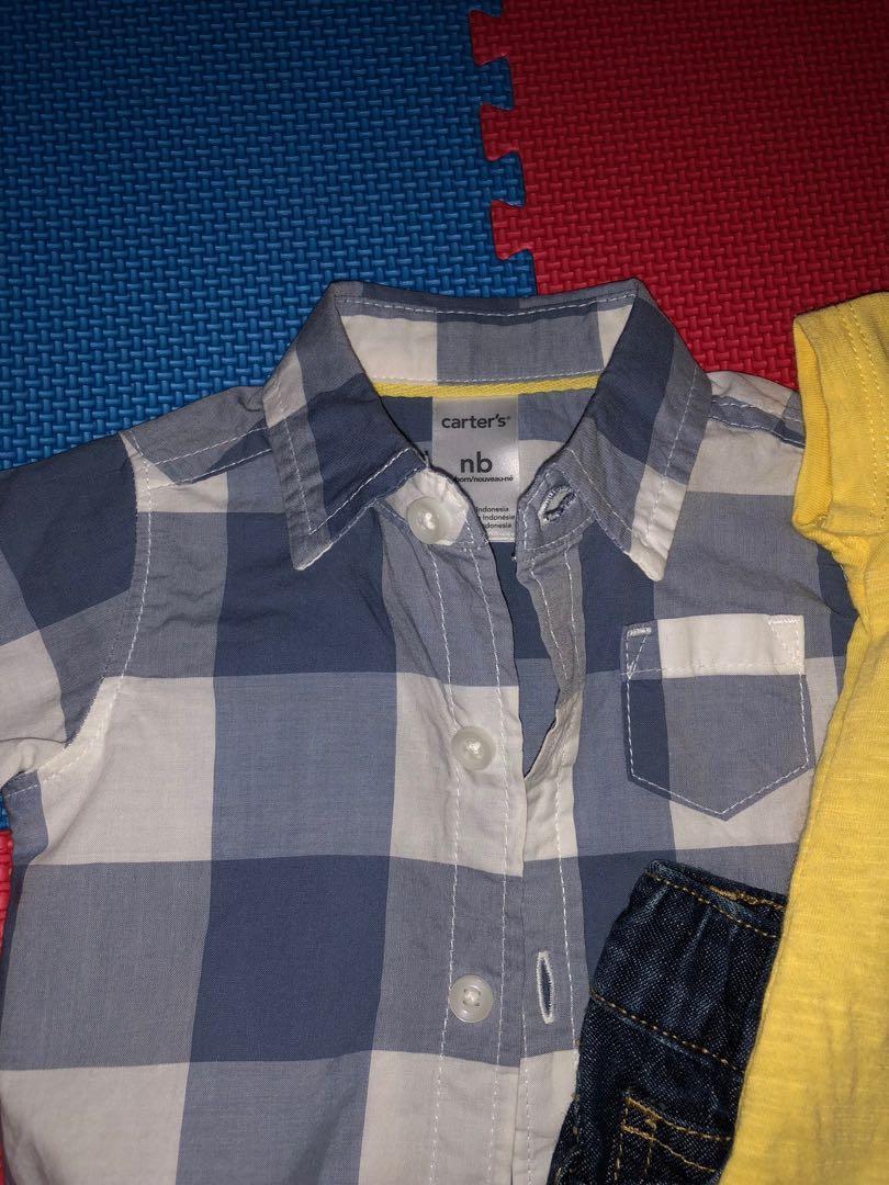 Setelan baju bayi carter's   reprice
