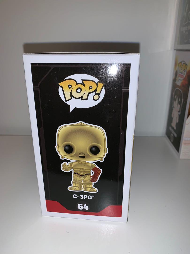 Star Wars Metallic Chrome C-3PO Funko Pop Vinyl Figure