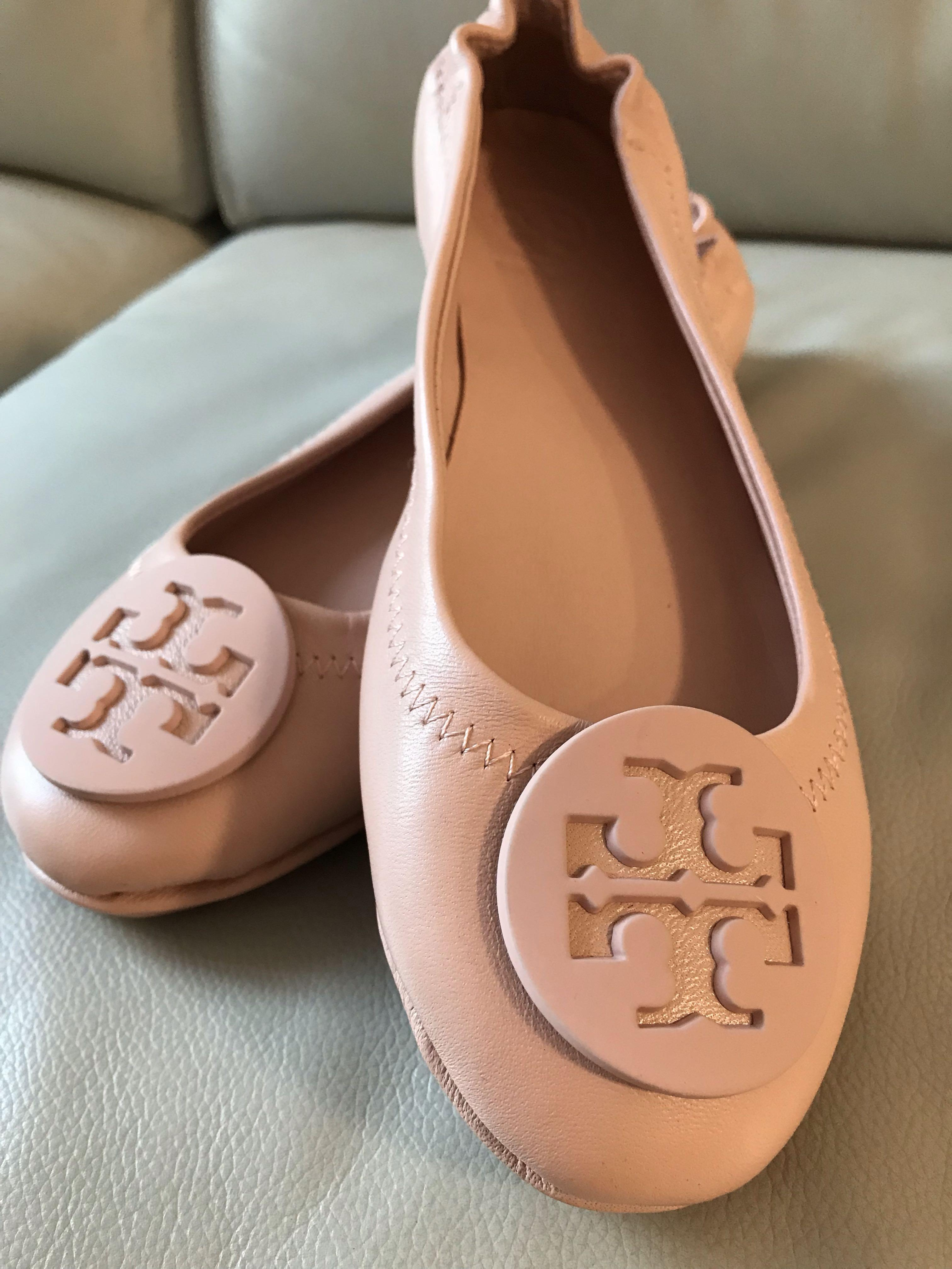 Tory Burch Flats baby pink 100% NEW & REAL