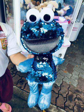 🚚 Brand new Soft Toy - Cookies Monster with full sequins