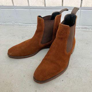 Loake Mitchum Chelsea 麂皮高筒靴 英國製