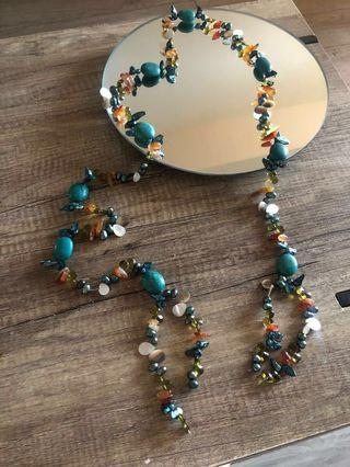 Authentic Turquoise and Assorted Stone Belt /Necklace