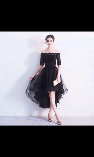 Black Lace Dinner Dress premium quality