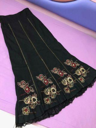 Skirt labuh cotton lace