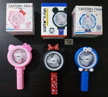 Kipas Angin Tangan Portable Karakter Mini Fan