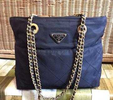 Prada Tesutto Chain Bag