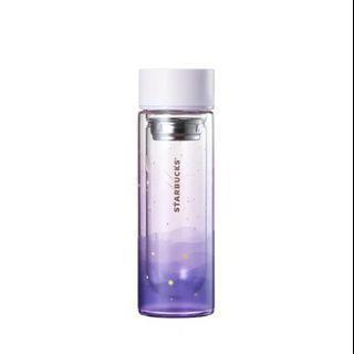 Korea Starbucks Summernight Firefly Glass Tea Bottle 300ml