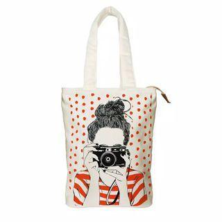 Totebag / Totbag / Tas Wanita / Tote Bag Premium Click