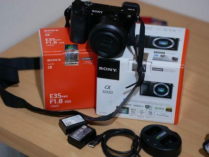Sony A6000 Plus Lensa Fix Sony 35mm F1.8