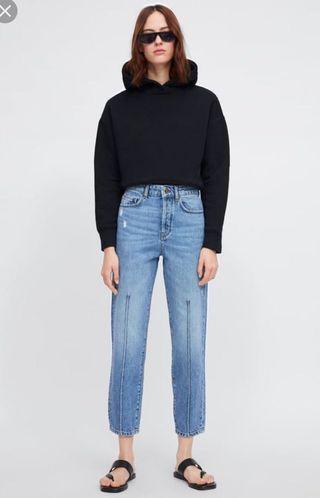 Zara Seam Details Front Mom Jeans
