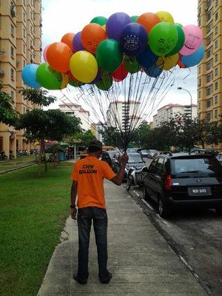 50 biji helium siap penghantaran