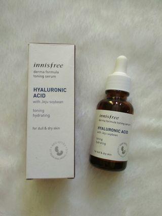 Innisfree Derma Formula Toning Serum Hyaluronic ACID with jeju soybean
