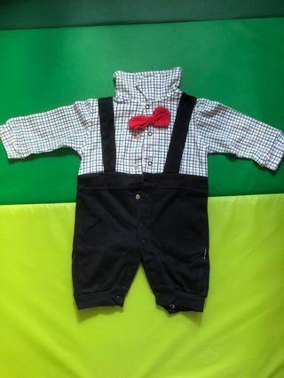 Baby clothes BB仔衫 斯文吊帶西裝look 2-4month