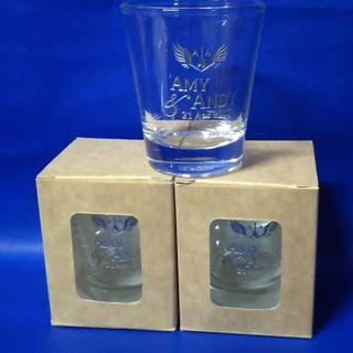 Shotglass with etched design