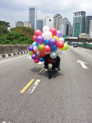 Delivery balloon with minimum quantity