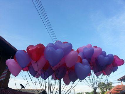 Loveshape helium balloon latex
