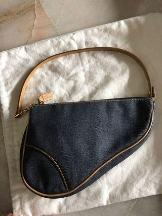 AUTHENTIC Dior vintage denim saddle