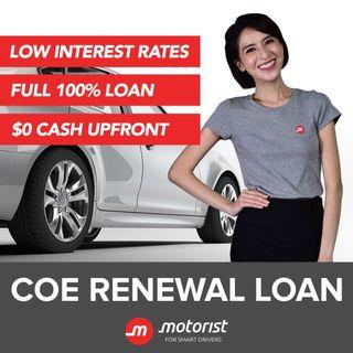 💵COE Renewal Loan💵 | Lowest Interest Rate 📉 | $0 Downpayment 💰