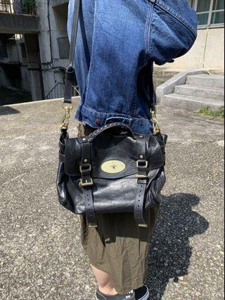 MULBERRY 黑色郵差包 附有防塵袋 已停產