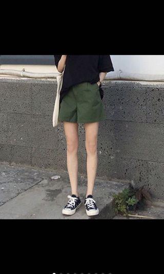 休閒A字修身短褲