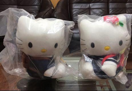 kitty粉絲們2000年限量版麥當勞Hello kitty玩偶上架嘍(一對賣)