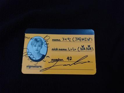 NCT Jaemin We Go Up Crew Card