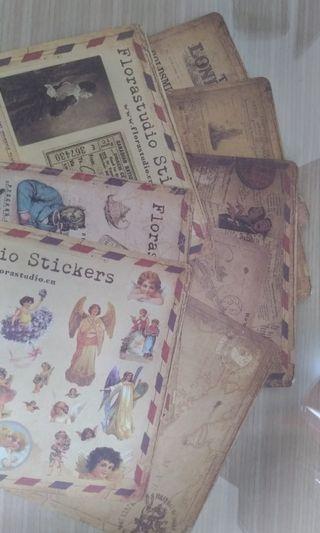 復古設計貼紙 /手作/相簿,信件,包裝,收藏
