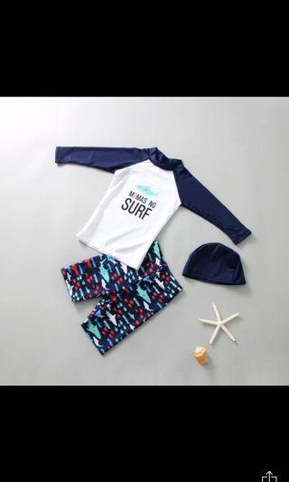 *Instock* Little Boy 2 Piece Swimming Set - M and L only