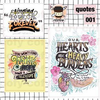"""quotes 001"" vinyl sticker preorder"