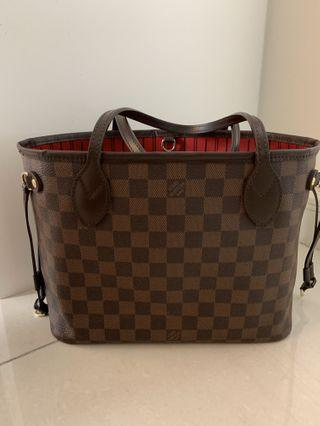 Authentic Louis Vuitton Neverfull PM Damier