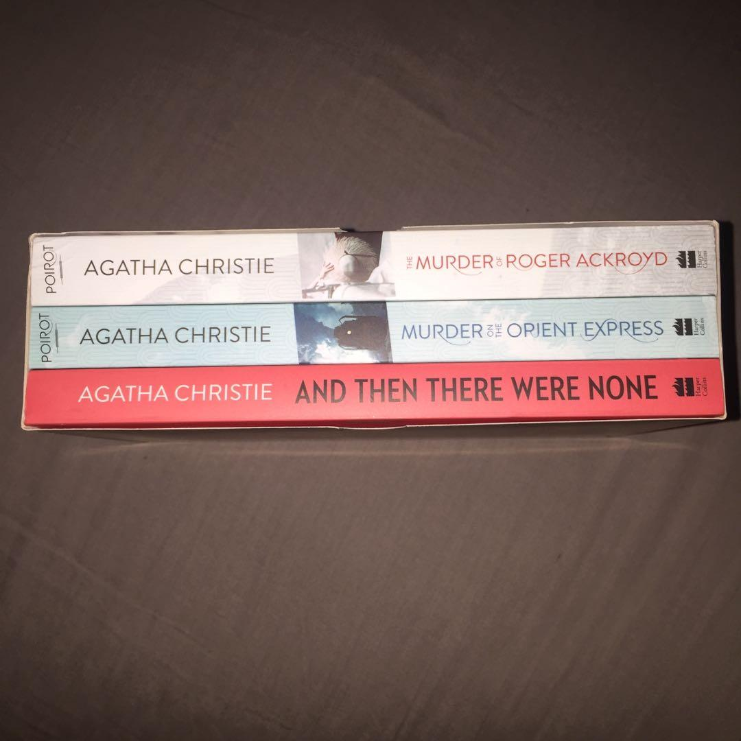 Agatha Christie Murder on the Orient Express The Murder of Roger Ackroyd And Then There Were None Book Set