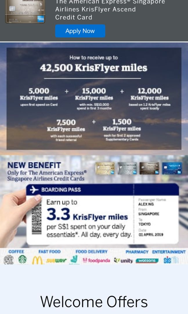 Amex Ascend Card Referral Use my link to get 7500 miles