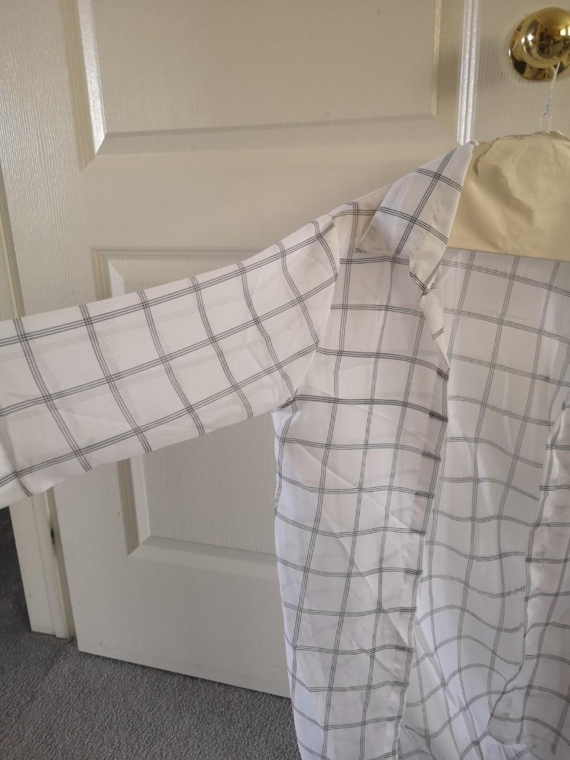Black and white summer chiffon shirt ( S/M ) #SwapCA