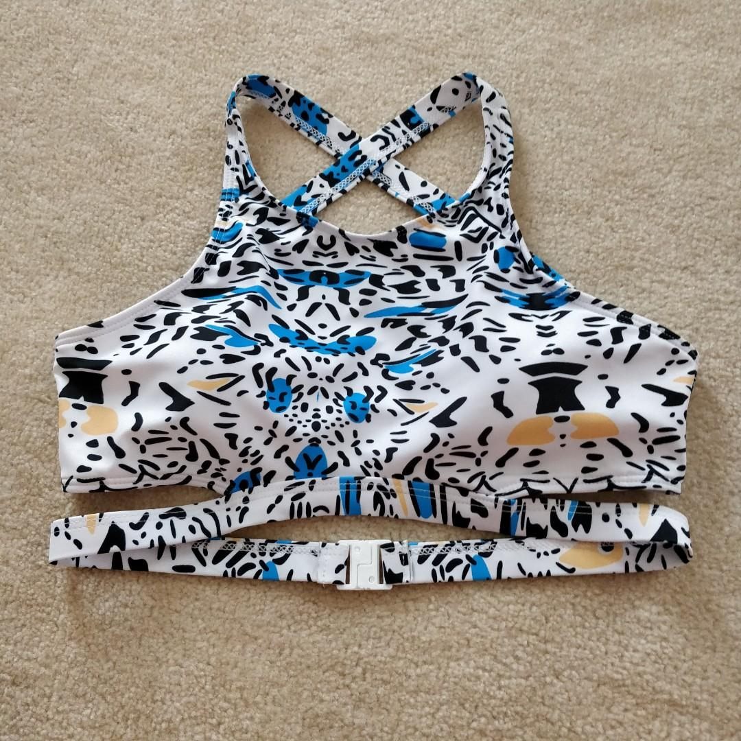 Brand New leopard print strappy swimsuit top