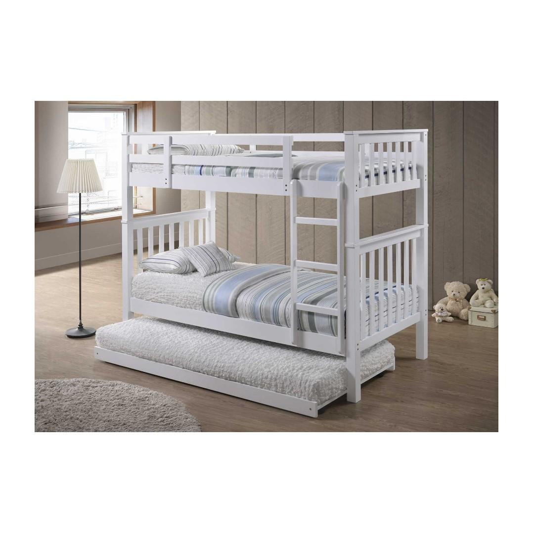 Picture of: Bunk Bed Double Deck Bed With Pull Out Bed Furniture Beds Mattresses On Carousell