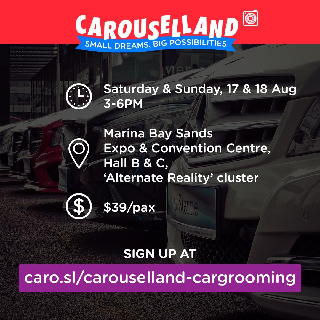 Car Groomer's Workshop at Carouselland 2019