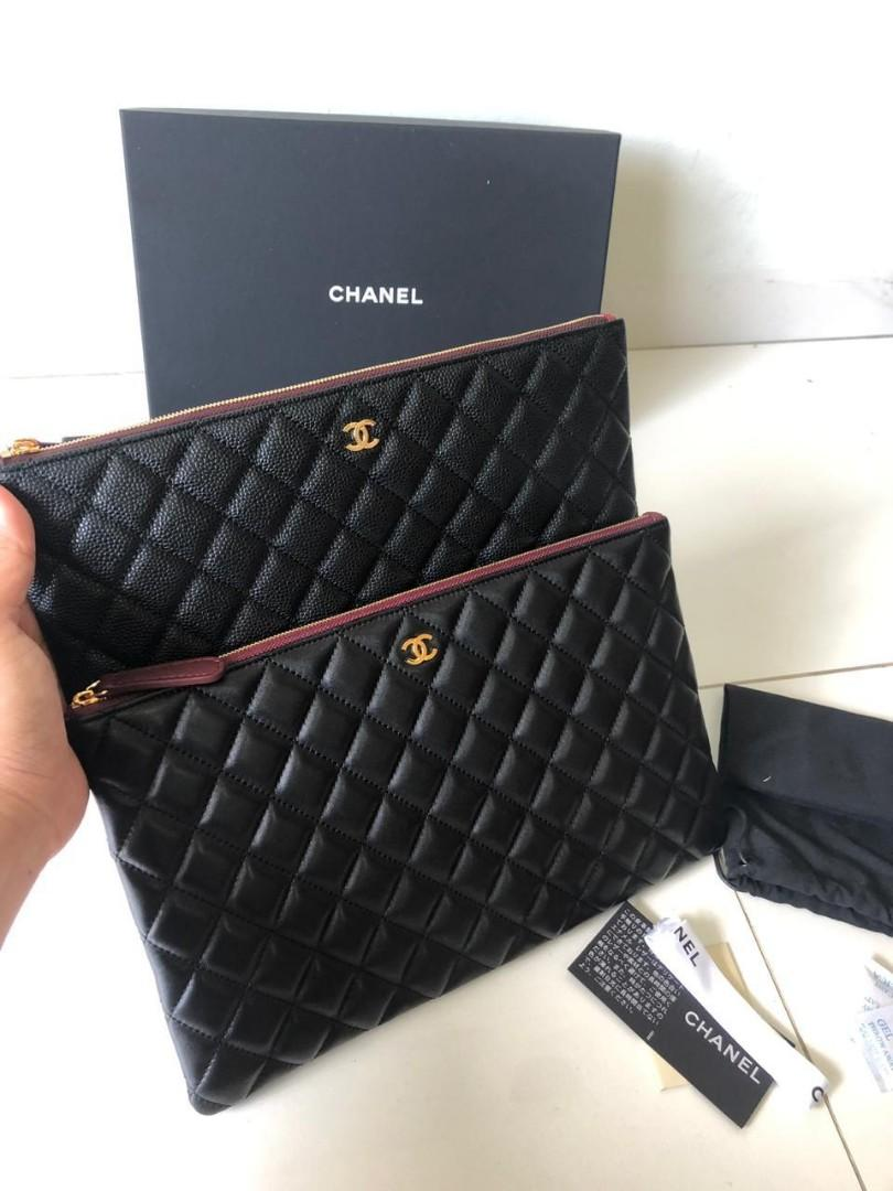 Chanel Classic Ocase 1008, SUPERMIRROR, Caviar n Lambskin, GHW, w30xh19cm  H  @1.7jt